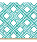Anti-Pill Fleece Fabric Diamond Geo Aqua