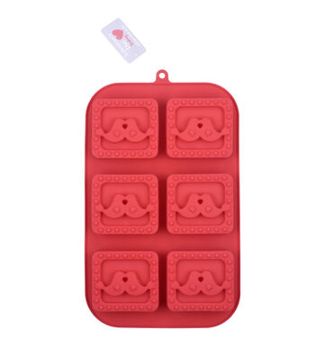 Valentine's Day Baking 11''x7'' 6-cavity Silicone Treat Mold-Lovebirds