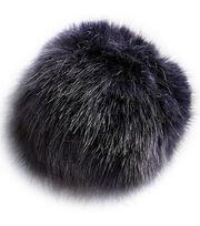 Bergere De France 5.9'' Synthetic Fur Pom Pom-Navy Flecked, , hi-res