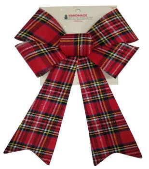 Handmade Holiday Christmas 9'' Bow-Plaid