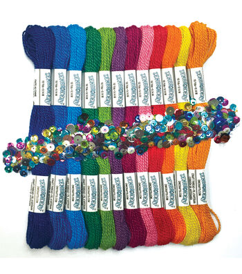 Design Works Zenbroidery Pack of 12 Skeins Floss-Rainbow