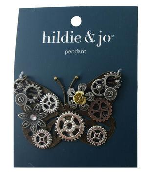 hildie & jo Gear Butterfly Pendant