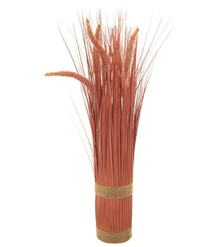 Blooming Autumn Cattail Arrangement-Peach