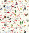 Novelty Cotton Fabric-State Outlines