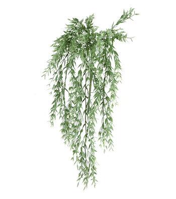 Fresh Picked Spring 37'' Mini Leaf Hanging Bush-Green