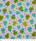 Snuggle Flannel Fabric -Ribbit