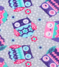 Anti-Pill Fleece Fabric 61\u0022-Sleepy Owls