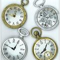 Jolee\u0027s Boutique Parcel Dimensional Stickers-Vintage Pocket Watches