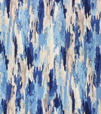 "Solarium Outdoor Fabric 54""-Carwash Wave Blue & Beige"