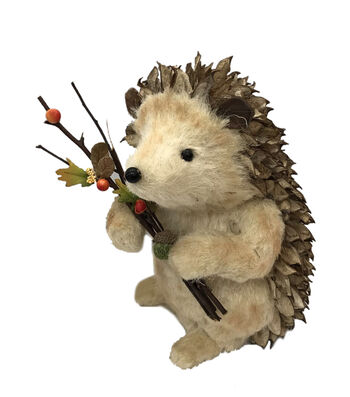 Blooming Autumn Shell Hedgehog with Twig