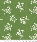 Waverly Upholstery Décor Fabric 9\u0022x9\u0022 Swatch-Sea Turtles Verte