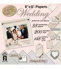 Hot Off the Press Romance&Wedding 8\u0022x8\u0022 Paper Pads