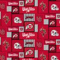 University of Utah Utes Fleece Fabric-College Patch