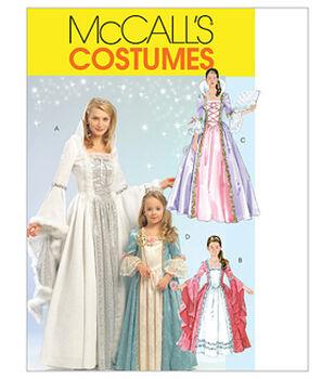 McCall's Pattern M5731-Misses'/Children's/Girls' Princess Costumes