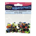 Round Acrylic Rhinestones, Assorted Neon Colors, 22gr.