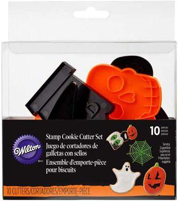 Wilton Halloween 10 pk Stamp Cookie Cutter Set-Halloween Shapes