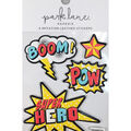 Park Lane Paperie 4 pk Imitation Leather Stickers-Boom