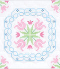 Stamped White Quilt Blocks 18\u0022X18\u0022 6 Pack-XX Lace Tulips