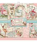 Stamperia Double-Sided Paper Pad 12\u0022X12\u0022 10/Pkg-Pink Christmas