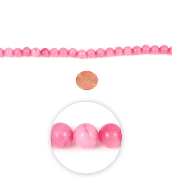 Blue Moon Strung Rhodonite Stone Beads,Round,Pink