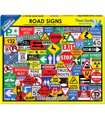 White Mountain Puzzle 550 Pieces 18''x24'' Jigsaw Puzzle-Road Signs