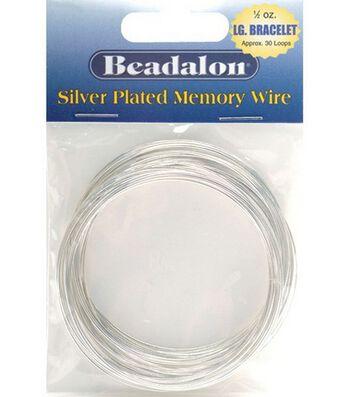 Beadalon Memory Wire Bracelet-.50 Oz/Silver Plated