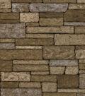 Brown Rustic Brick Wallcovering