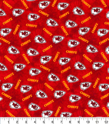 Kansas City Chiefs Flannel Fabric-Tie Dye