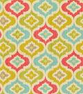Waverly Lightweight Decor Fabric 54\u0022-Lunar Lattice/Golden