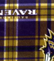 Baltimore Ravens Fleece Fabric -Plaid, , hi-res
