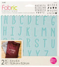 Fabric Creations Adhesive Stencil 6\u0022X6\u0022-ABC