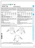 Mccall Pattern V8778 Y (Xsm-Sml-Vogue Pattern