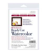 "Strathmore Watercolor Paper 5""X7""-140lb 25 Sheets Hot Pressed, , hi-res"
