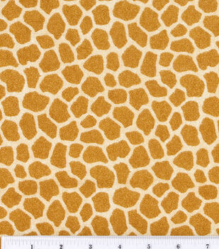 Jungle Babies Nursery Flannel Fabric -Giraffe Skin