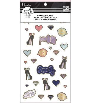 The Happy Planner Girl Enamel Stickers-Glam Girl