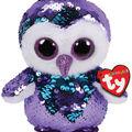 Ty Inc. Flippables Regular Sequin Moonlight Owl-Purple
