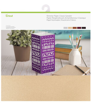 Cricut 10 Pack 12''x12'' Shimmer Paper Samplers-Classic