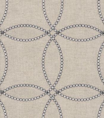 P/K Lifestyles Upholstery 8x8 Fabric Swatch-String Along Emb/Gunmetal