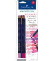 Faber-Castell design-memory-craft Mix & Match Art Grip Aquarelle Watercolor Pencils-4 Color Sets , , hi-res