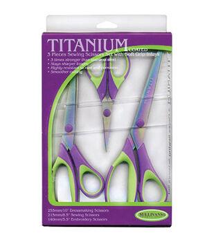 Sullivans 3 pk Titanium Sewing Scissors