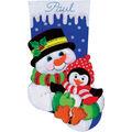 Design Works Snowman And Penguin Stocking Felt Applique Kit