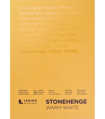 Legion Paper Stonehenge 15-sheet 5''x7'' 90 lb Paper Pad-Warm White