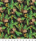 Novelty Cotton Fabric -Monkey in Jungle