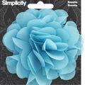 Rosette Flower Accessory Blue Turquoise