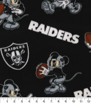 Oakland Raiders Fleece Fabric-Mickey Mouses, , hi-res