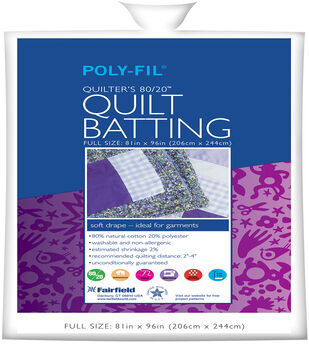 """Quilters 80/20 Batting 81"""" x 96"""""""