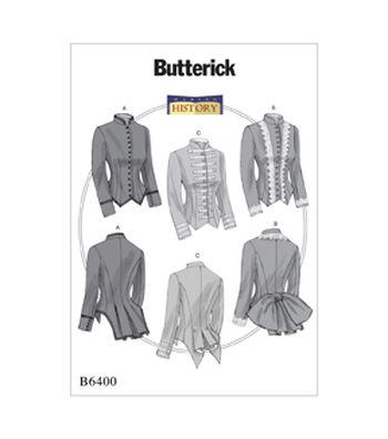 Butterick Pattern B6400 Misses' Boned, Back-Pleat Jackets-Size 14-22