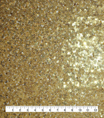 All Over Sequin Fabric-Gold
