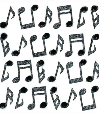 Jolee's Mini Repeats Stickers-Music Notes