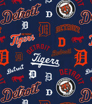 Cooperstown Detroit Tigers Cotton Fabric, , hi-res